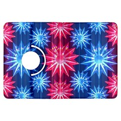 Stars Patterns Christmas Background Seamless Kindle Fire Hdx Flip 360 Case
