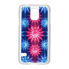 Stars Patterns Christmas Background Seamless Samsung Galaxy S5 Case (white)