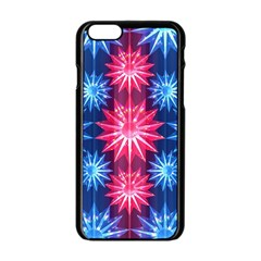 Stars Patterns Christmas Background Seamless Apple iPhone 6/6S Black Enamel Case