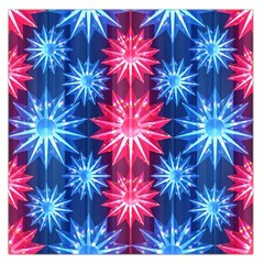 Stars Patterns Christmas Background Seamless Large Satin Scarf (square)