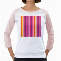 Stripes Colorful Background Pattern Girly Raglans