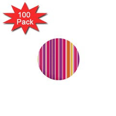 Stripes Colorful Background Pattern 1  Mini Buttons (100 pack)