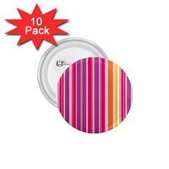 Stripes Colorful Background Pattern 1.75  Buttons (10 pack)