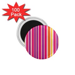 Stripes Colorful Background Pattern 1.75  Magnets (100 pack)