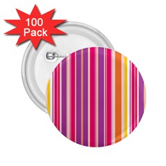 Stripes Colorful Background Pattern 2.25  Buttons (100 pack)