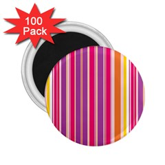 Stripes Colorful Background Pattern 2 25  Magnets (100 Pack)
