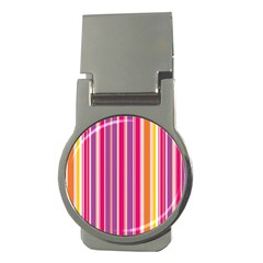 Stripes Colorful Background Pattern Money Clips (round)