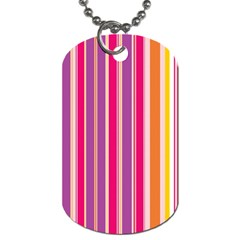 Stripes Colorful Background Pattern Dog Tag (one Side)