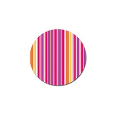 Stripes Colorful Background Pattern Golf Ball Marker