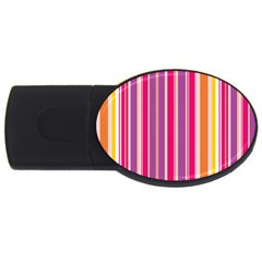Stripes Colorful Background Pattern USB Flash Drive Oval (1 GB)