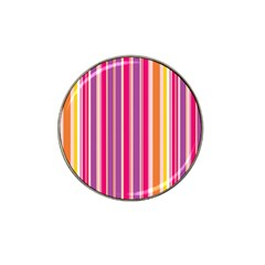 Stripes Colorful Background Pattern Hat Clip Ball Marker