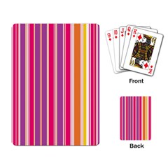 Stripes Colorful Background Pattern Playing Card