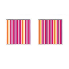Stripes Colorful Background Pattern Cufflinks (square)