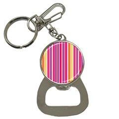 Stripes Colorful Background Pattern Button Necklaces