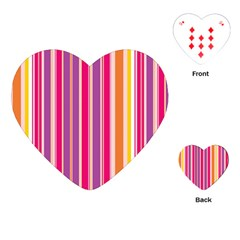 Stripes Colorful Background Pattern Playing Cards (Heart)