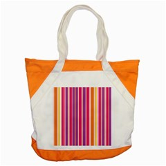 Stripes Colorful Background Pattern Accent Tote Bag