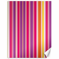 Stripes Colorful Background Pattern Canvas 12  x 16