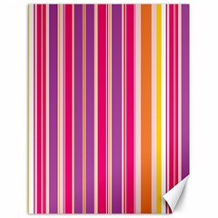 Stripes Colorful Background Pattern Canvas 18  x 24