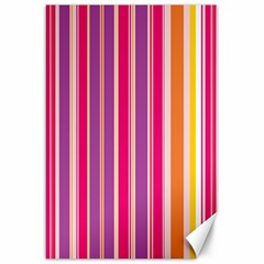 Stripes Colorful Background Pattern Canvas 20  X 30