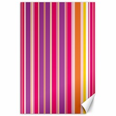 Stripes Colorful Background Pattern Canvas 24  X 36