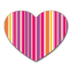 Stripes Colorful Background Pattern Heart Mousepads