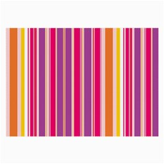 Stripes Colorful Background Pattern Large Glasses Cloth (2-Side)