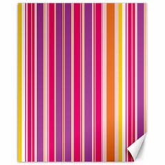 Stripes Colorful Background Pattern Canvas 11  x 14