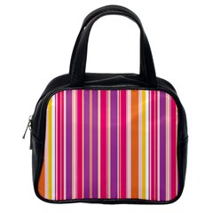 Stripes Colorful Background Pattern Classic Handbags (one Side)