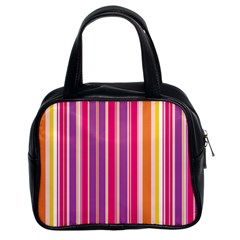 Stripes Colorful Background Pattern Classic Handbags (2 Sides)