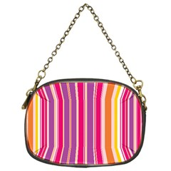 Stripes Colorful Background Pattern Chain Purses (one Side)