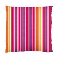 Stripes Colorful Background Pattern Standard Cushion Case (two Sides)