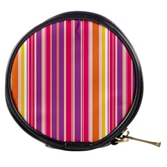 Stripes Colorful Background Pattern Mini Makeup Bags