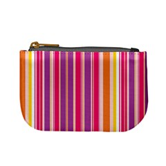 Stripes Colorful Background Pattern Mini Coin Purses