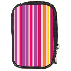 Stripes Colorful Background Pattern Compact Camera Cases
