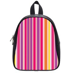 Stripes Colorful Background Pattern School Bags (small)