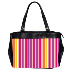 Stripes Colorful Background Pattern Office Handbags (2 Sides)