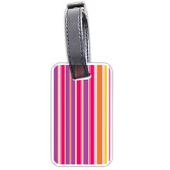 Stripes Colorful Background Pattern Luggage Tags (One Side)