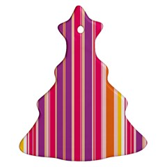 Stripes Colorful Background Pattern Ornament (Christmas Tree)