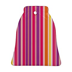 Stripes Colorful Background Pattern Ornament (Bell)