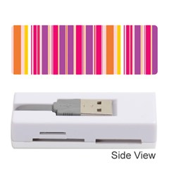 Stripes Colorful Background Pattern Memory Card Reader (Stick)