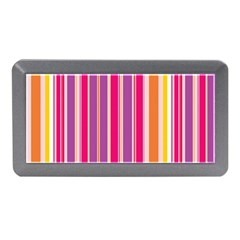 Stripes Colorful Background Pattern Memory Card Reader (Mini)
