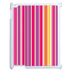 Stripes Colorful Background Pattern Apple iPad 2 Case (White)