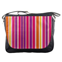 Stripes Colorful Background Pattern Messenger Bags