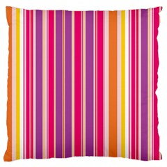 Stripes Colorful Background Pattern Large Cushion Case (Two Sides)