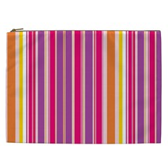 Stripes Colorful Background Pattern Cosmetic Bag (XXL)