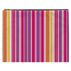 Stripes Colorful Background Pattern Cosmetic Bag (xxxl)