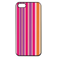 Stripes Colorful Background Pattern Apple Iphone 5 Seamless Case (black)