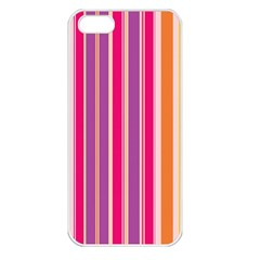 Stripes Colorful Background Pattern Apple Iphone 5 Seamless Case (white)