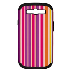 Stripes Colorful Background Pattern Samsung Galaxy S Iii Hardshell Case (pc+silicone)