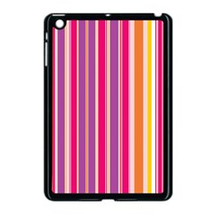 Stripes Colorful Background Pattern Apple iPad Mini Case (Black)